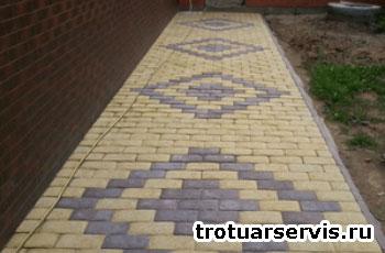 Пример укладки тротуарной плитки Булыжник