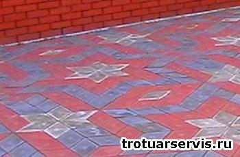 Пример укладки тротуарной плитки Ромб