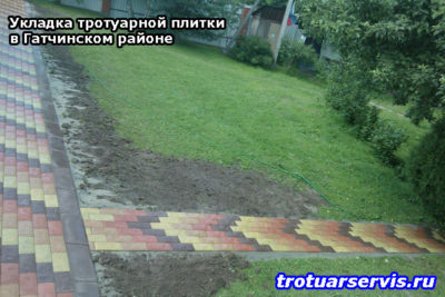 Укладка тротуарной плитки в Гатчинском районе