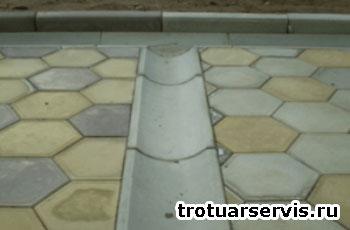 Пример укладки тротуарной плитки Волна