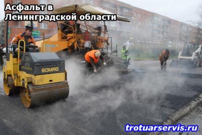 Асфальт в Ленинградской области