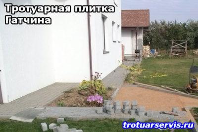 Пример укладки тротуарной плитки Брусчатка в Гатчине (Гатчинский район, Ленинградская область)