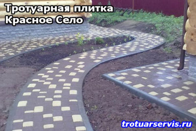 Примеры укладки тротуарной плитки Брусчатка: Красное Село, Ленинградская область