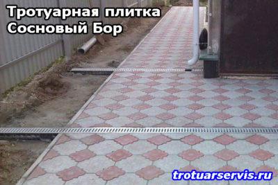 Примеры укладки тротуарной плитки:Сосновоборский городской округ