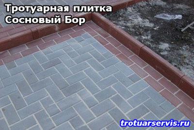 Примеры укладки тротуарной плитки Кирпич (Сосновоборский городской округ, Ленинградская область)