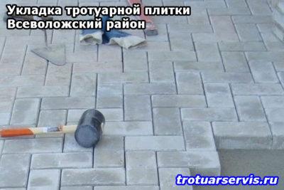 Пример укладки тротуарной плитки кирпич в посёлке Лепсары