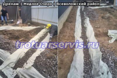Тротуарная плитка Медное Озеро Всеволожский район: дренажные работы