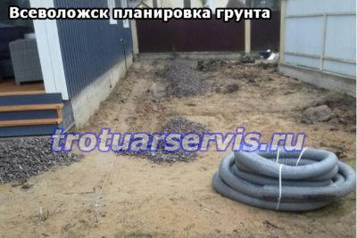 Выравнивание грунта (Всеволожск, Ленинградская область).