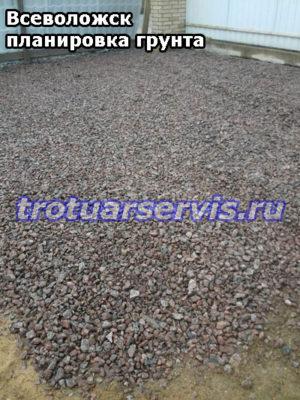 Укладка щебня перед утрамбовкой(Всеволожск, Ленинградская область)