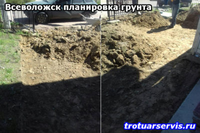 Начало работы: удаление лишнего грунта и строительного мусора