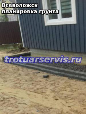 Выравнивание грунта и трамбовка вокруг дома(Всеволожск, Ленинградская область)