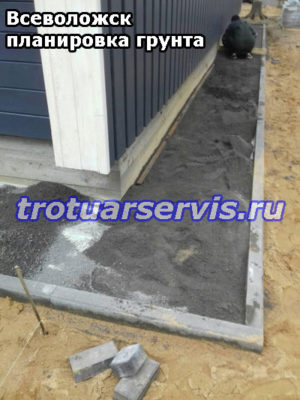 Подготовка укладки тротуарной плитки на песке(Всеволожск, Ленинградская область)