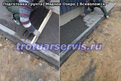 Тротуарная плитка Медное Озеро Всеволожский район: укладка тротуарной плитки