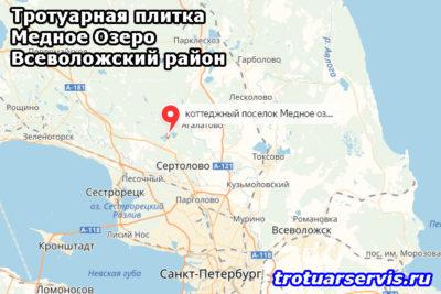Тротуарная плитка Медное Озеро Всеволожский район Ленинградская область