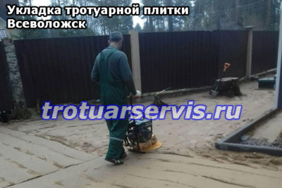 Укладка тротуарной плитки Всеволожск, Ленинградская область