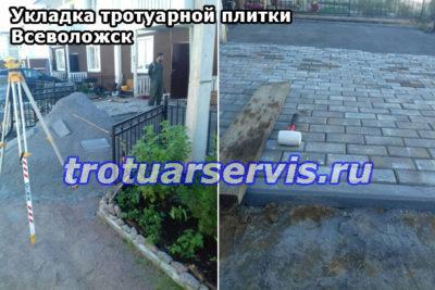 Укладка тротуарной плитки Всеволожск: пример укладки тротуарной плитки Классика