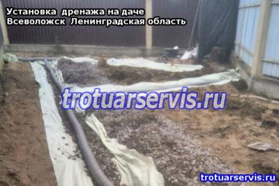 Установка дренажа на даче, Всеволожск Ленинградская область