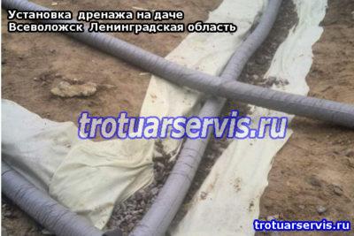Пример установки дренажной системы на даче (Всеволожск, Ленинградская область)