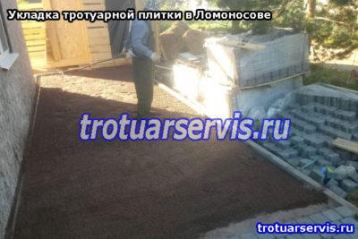Укладка тротуарной плитки в Ломоносове: подготовка основы, мокрая трамбовка
