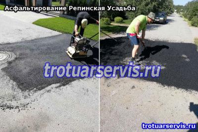 Восстановление старой дороги асфальтированием (Выборгский район Ленинградская область)