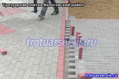 Тротуарная плитка Волосовский район: фото примеры с места работы
