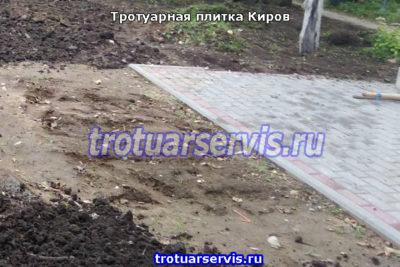 Укладка тротуарной плитки в Кирове