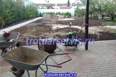 Укладка брусчатки в Кирове